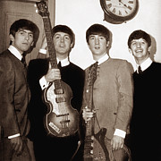 Beatles Photo Posters - Beatles 1963 Poster by Chris Walter