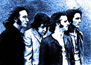 Beatles Digital Art - Beatles Blue  by Digital  Hiccup