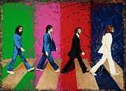 Lennon Sculptures - Beatles Crossing by Chris Mackie