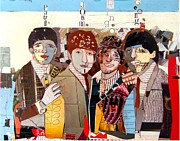Rock Stars Mixed Media Posters - Beatles Do Collage  Poster by Brian Buckley
