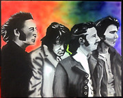 George Harrison Painting Originals - Beatles For Sale by Jacob Logan