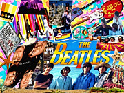 Beatles Mixed Media Posters - Beatles for Summer Poster by Mo T