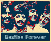 Beatles Digital Art - Beatles Forever by Stephen Lawrence Mitchell