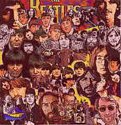 Beatles Digital Art - Beatles by Glenn Cotler