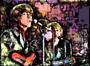 Beatles Digital Art - Beatles in Japan by Digital  Hiccup