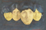 Fab Four Drawings Framed Prints - Beatles Framed Print by Kean Butterfield