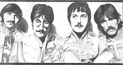 Beatles Drawings - Beatles by Macarena Taboada