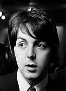 Beatles Photo Posters - Beatles Paul McCartney Poster by Chris Walter