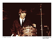 Ringo Starr Metal Prints - Beatles Ringo Color Metal Print by Larry Mulvehill