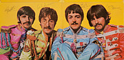 Sgt Peppers Metal Prints - Beatles Sgt. Peppers Lonely Hearts Club Band Metal Print by Robert Rhoads