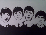 John Lennon Painting Originals - Beatles by Tamir Barkan