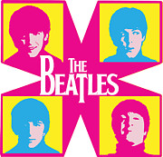 Concert Digital Art Posters - Beatles Vinil Cover Colors Project No.01 Poster by Caio Caldas