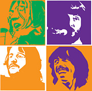 The Beatles  Posters - Beatles Vinil Cover Colors Project No.02 Poster by Caio Caldas