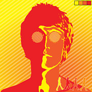 Black Digital Art - Beatles Vinil Cover Colors Project No.03 by Caio Caldas
