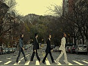 Beatles Walk New York Print by Movie Poster Prints