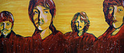 John Lennon Art Work Framed Prints - Beatles widescreen Framed Print by Linda Kassabian
