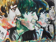 Greens Greeting Cards Prints - Beatles...Up Close Print by Chrisann Ellis