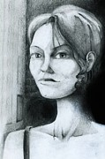 Graphite  Drawings Paintings - Beatriz at the Escort House New York by Neal Cormier