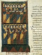 Miniatures Art - Beatus Of Liebana. 10th C. Fol 122v by Everett