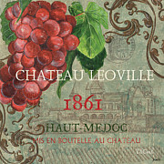 Brown Leaves Posters - Beaujolais Nouveau 1 Poster by Debbie DeWitt