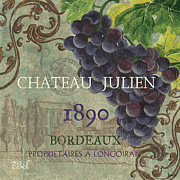 Grapes Green Posters - Beaujolais Nouveau 2 Poster by Debbie DeWitt