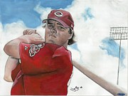 Sports Art Paintings - Beaumont to the Big Leagues by Jason Yoder