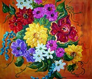 Bright Colors Metal Prints - Beauties in Bloom Metal Print by Eloise Schneider