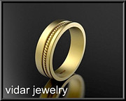 Featured Jewelry - Beautiful 14k Yellow Gold Unisex Wedding Ring by Roi Avidar
