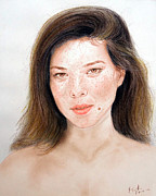 Beauty Mark Mixed Media - Beautiful Actress Jeananne Goossen by Jim Fitzpatrick