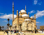 Alabaster Prints - Beautiful Alabaster Mosque in Cairo Egypt Print by Mark E Tisdale