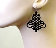 Laser Cut Jewelry - Beautiful and Unique Spiral Earrings by Rony Bank