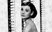 Audrey Hepburn Posters Framed Prints - Beautiful Audrey Framed Print by Florian Rodarte