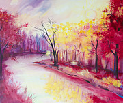 River Drawings - Beautiful Autumn by Slaveika Aladjova