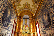 Religious Art Photo Metal Prints - Beautiful Azorean church Metal Print by Gaspar Avila