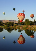 Pacific Northwest Rivers Prints - Beautiful Balloon Day Print by Carol Groenen