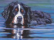 Bernese Mountain Dog Posters - Beautiful Berner Poster by Lee Ann Shepard