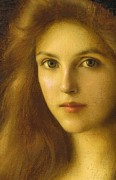 Detail Painting Prints - Beautiful Betty  Print by Albert Lynch