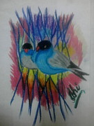 Syeda Ishrat Art - Beautiful Birds by Syeda Ishrat
