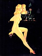 Candle Stick Posters - Beautiful Blond Nude Poster by Studio Artist