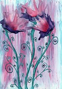 Wax Mixed Media Framed Prints - Beautiful Blooms Framed Print by Natasha Lovell