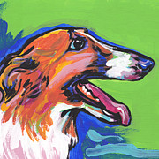 Sight Hound Painting Posters - Beautiful Borzoi Poster by Lea