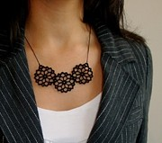 Gothic Jewelry - Beautiful Bouquet Necklace by Rony Bank