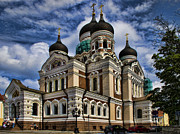 Orthodox Photo Metal Prints - Beautiful Cathedral in Tallinn Estonia Metal Print by David Smith