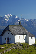 Alp Photos - Beautiful chapel in the mountains by Matthias Hauser