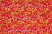 Fruit Tree Art Prints - Beautiful Chinese Pattern Background Print by Lanjee Chee