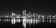 City Buildings Framed Prints - Beautiful City Skyline Framed Print by Phill Petrovic