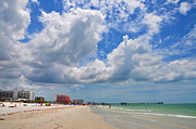 Pier Digital Art - Beautiful Clearwater Beach by Bill Cannon