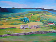 Stonewall Painting Originals - Beautiful Countryside Original Acrylic Painting On Canvas in Standard Profile by Louisa Bryant