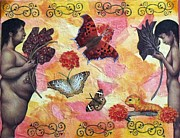 Freedom Mixed Media - Beautiful Creatures by Leslie Jennings