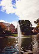 Campus Life Prints - Beautiful Day at Mirror Lake Print by Rachel Counts